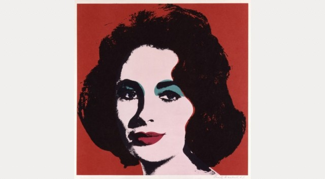 Andy Warhol, Dame Elizabeth Taylor, 1967 © 2014 The Andy Warhol Foundation for the Visual Arts, Inc. / Artists Rights Society (ARS), New York and DACS, London.