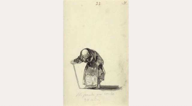 Francisco Goya, He can no longer at the age of 98, c. 1819-23