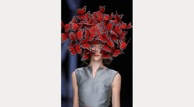 Philip Treacy for Alexander McQueen Butterfly Head dress